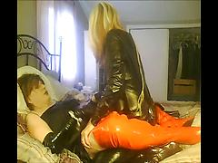 Crossdressing Older Men In Latex And Leather Fucking