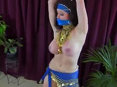 Busty Arabic Babe Dancing And Taking Her Beautiful Dress Off