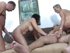 Two Older Couples Swap Partners In This Foursome