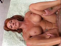 Beautiful redhead bigtits milf April get fucked