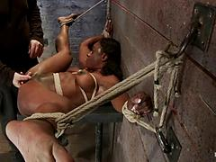 Hogtied Black Bitch Is Mistreated And Loves It