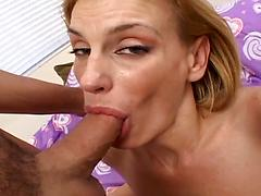 Sexy Milf Chokes On His Cock And Swallows His Cum