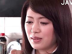 Horny Japanese Housewife Is Seduced And Stripped