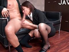 Hot Asian Secretary Gives Her Boss A Daily Blowjob