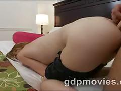 Loud redhead loves choking on cock and getting anal