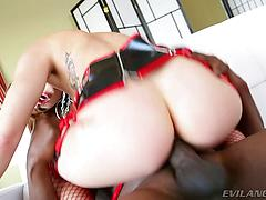Lexington is jamming  jaw-dropping star Brooklyn Lee in the booty!