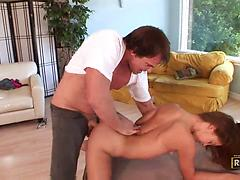 Candy ass chick Gigi Rivera jumps on cock and enjoys doggystyle
