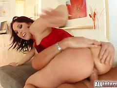 Juicy slut with white ass gets the best DP experience