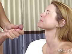 Blonde First Timer Fucked And Facialized
